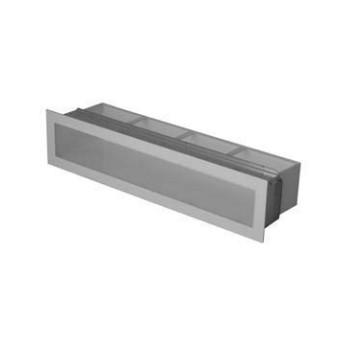 Ventilační otvor s montážním rámem - černá 450 x 100 mm