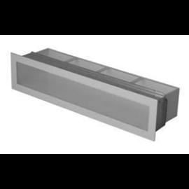 Ventilační otvor s montážním rámem - bílá 900 x 70 mm