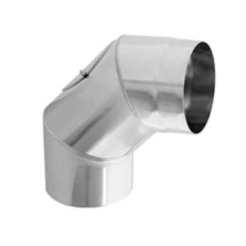Kouřovod Koleno 90° pevné s čistícím otvorem Ø180 mm - 2 mm (Karl)