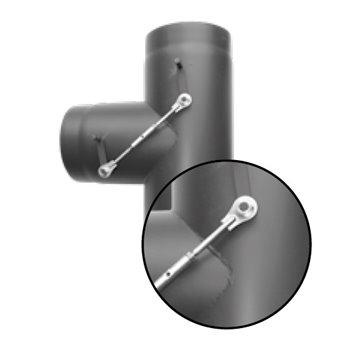 Kouřovod Dvoucestná klapka 180 mm (Karl)