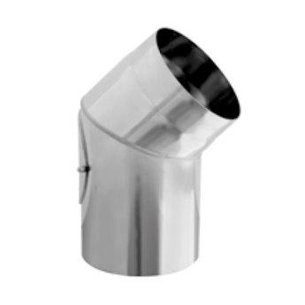 Kouřovod Koleno 45° pevné s čistícím otvorem Ø180 mm - 2 mm (Karl)