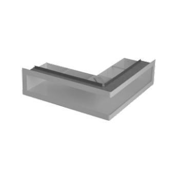 Ventilační otvory s montážní rámem - černá 700 x 500 x 70 mm L