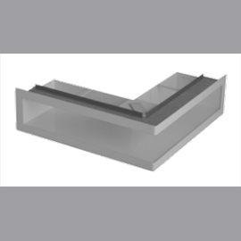 Ventilační otvory s montážní rámem - černá 700 x 500 x 100 mm L